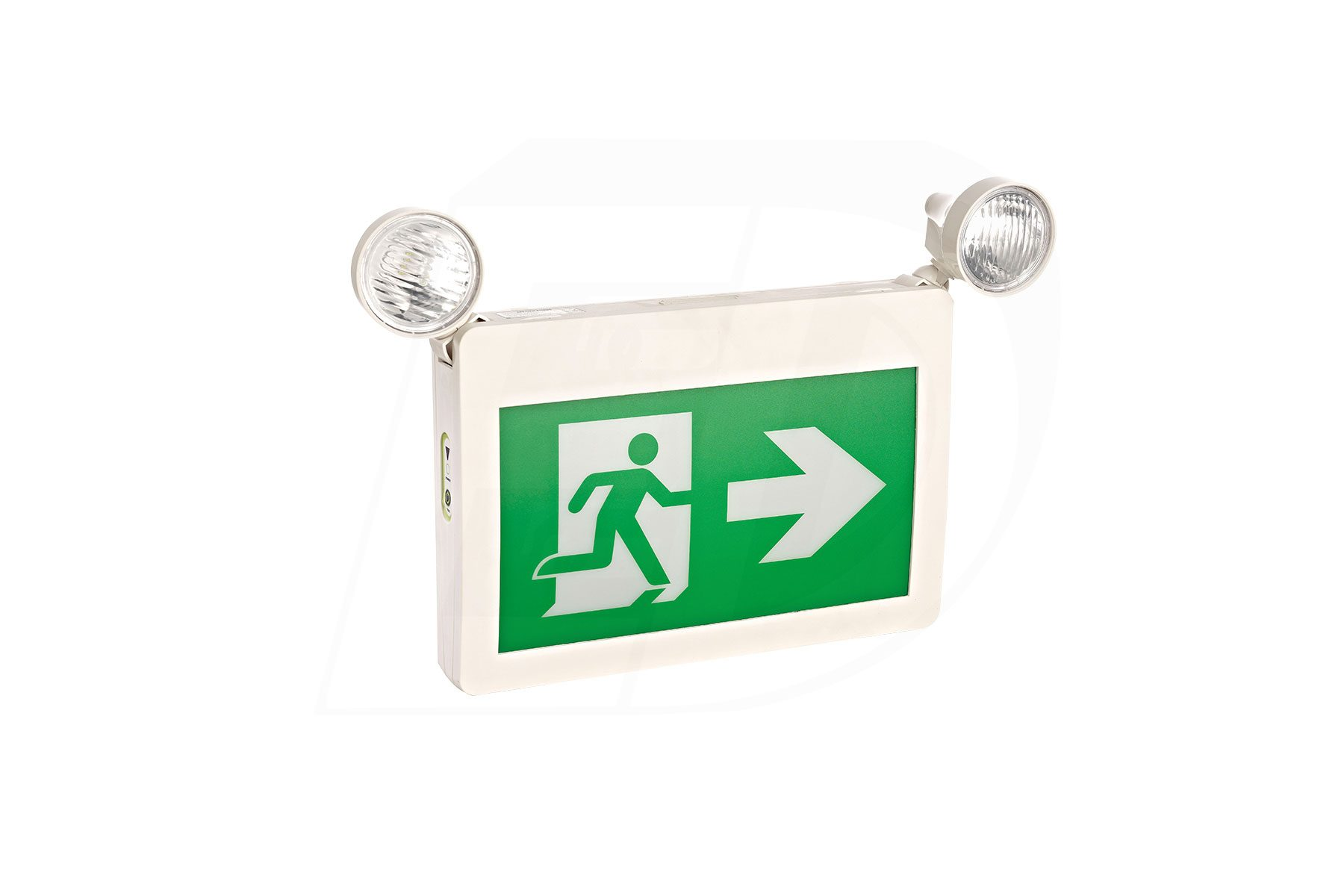 EC222WH-A13BB-GU-4 - LED RUNNING MAN EXIT SIGN WITH COMBO HEADS