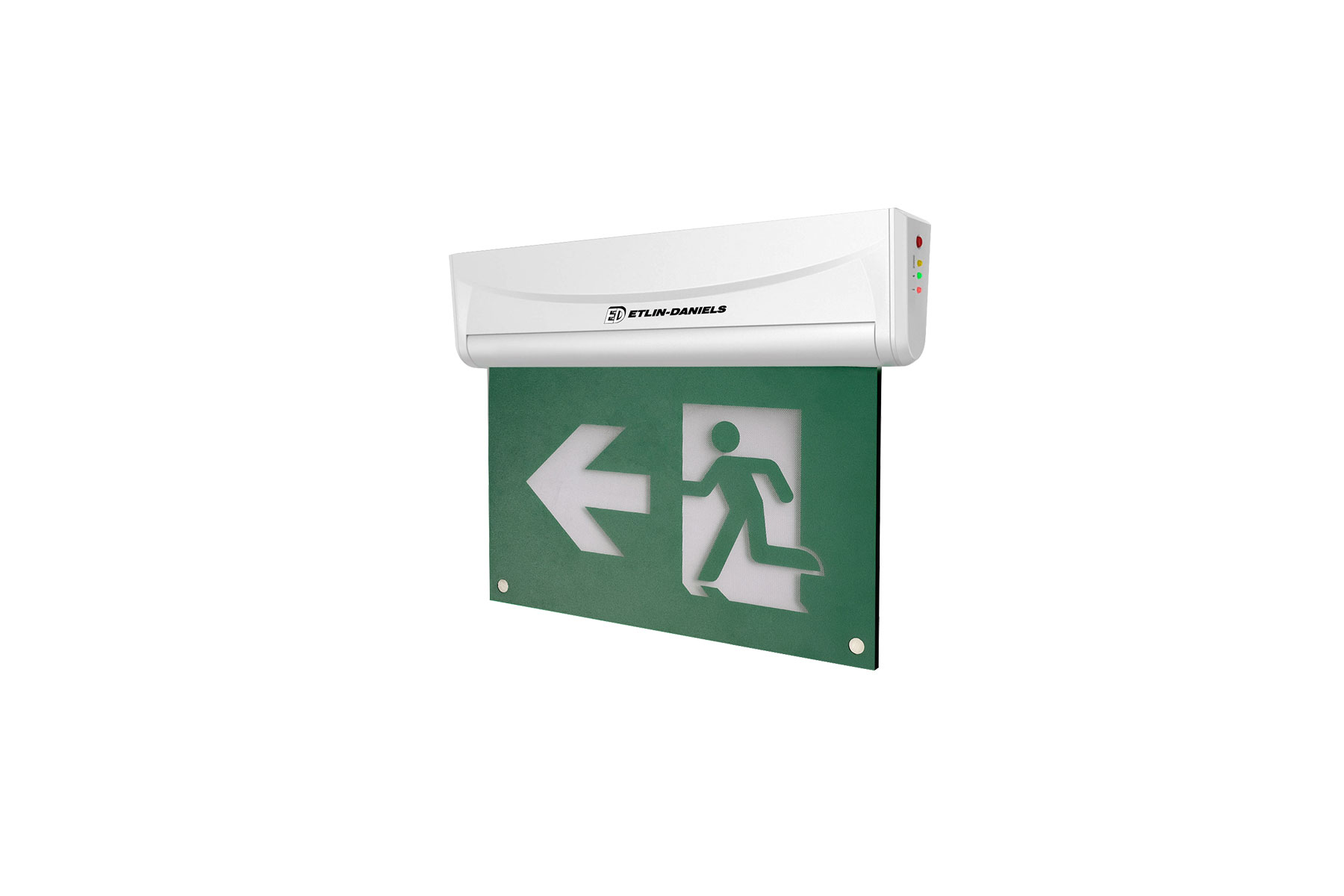 EE202WH-A13BB-GU - LED RUNNING MAN EXIT SIGN EDGE LIT