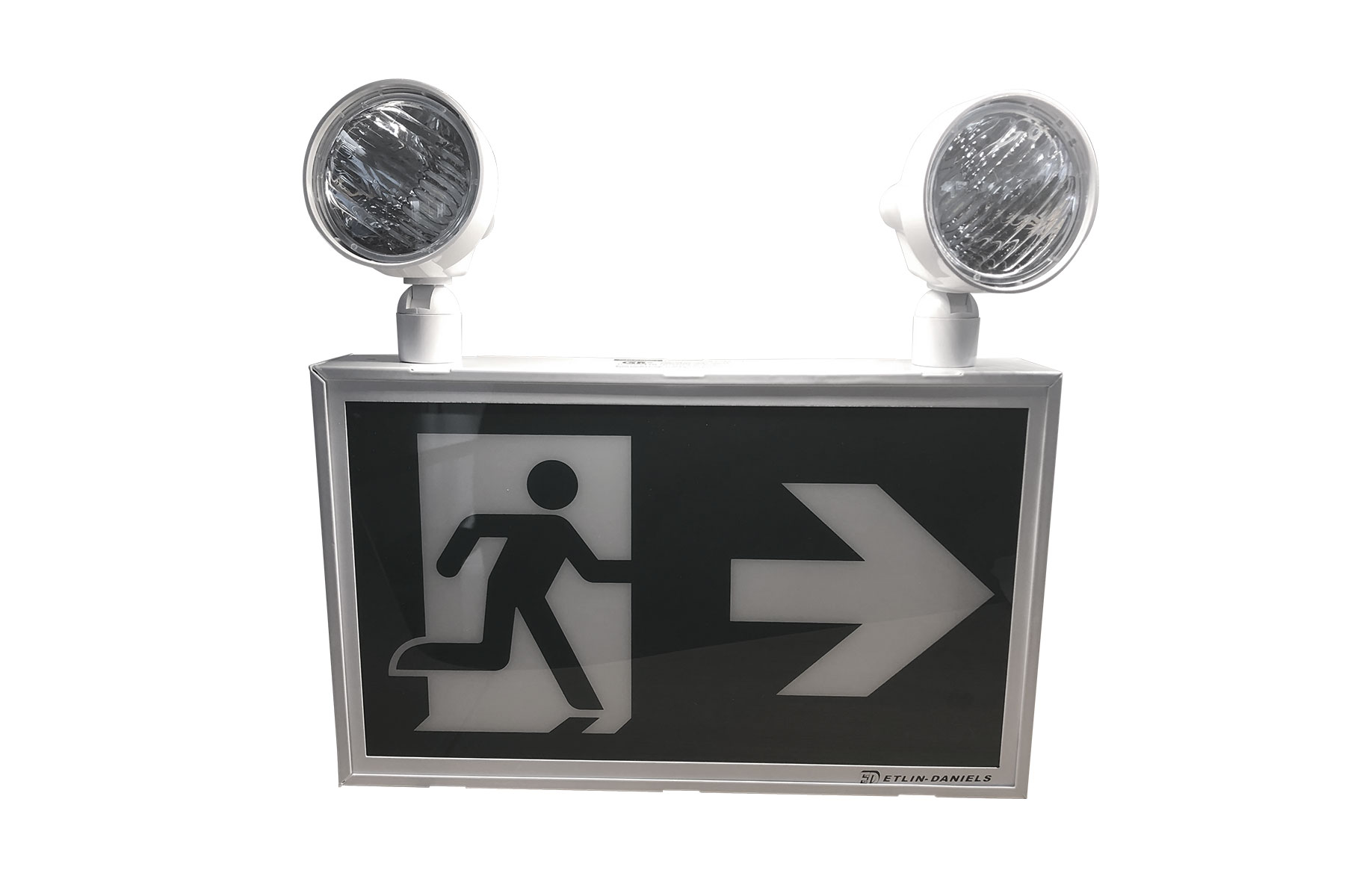 EC322WHM-A13-BB-GU-4 - LED RUNNING MAN EXIT SIGN WITH COMBO HEADS